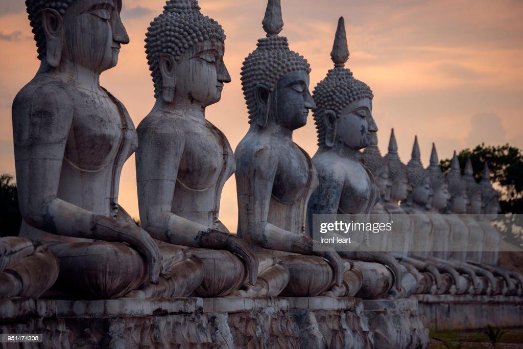 Statue buddha image in Nakorn Si Thammarat, Thailand. : Stock Photo