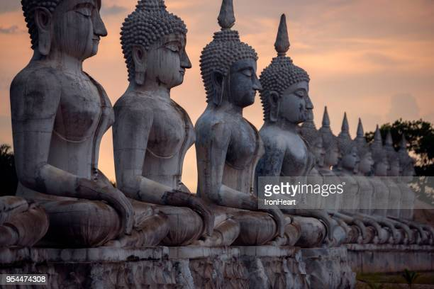 statue buddha image in nakorn si thammarat, thailand. - buddha stock photos and pictures
