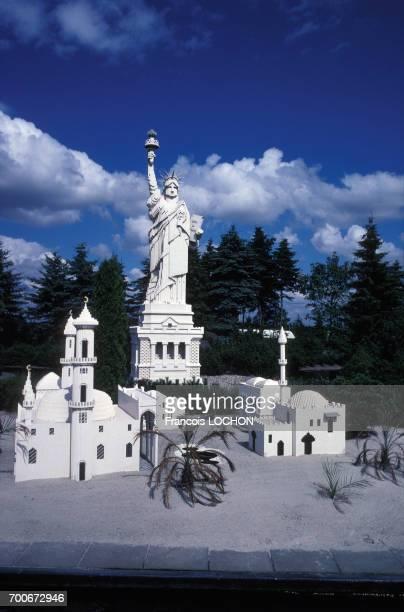 Statue de la liberté au Parc Legoland à Billund en août 1991 au Danemark