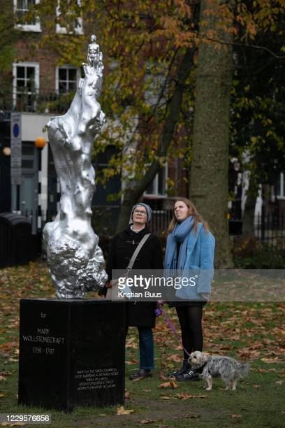 Statue dedicated to the feminist Mary Wollstonecraft on display at Newington Green on 11th of November 2020 in London, United Kingdom. The statue by...