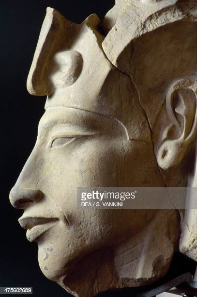 Statue depicting the face of Akhenaten Egyptian civilisation New Kingdom Dynasty XVIII Cairo Egyptian Museum