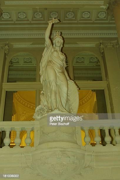 Statue der Göttin Minerva Ehrenvestibül Belgischer Königspalast Brüssel/Belgien Europa Königshaus Palast Frieden Friedenssymbol Reise