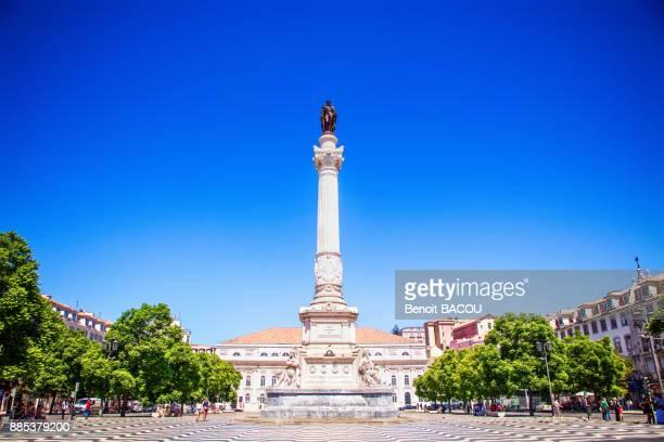 Statue Dom Pedro IV, rossio square, Lisbonne, Portugal