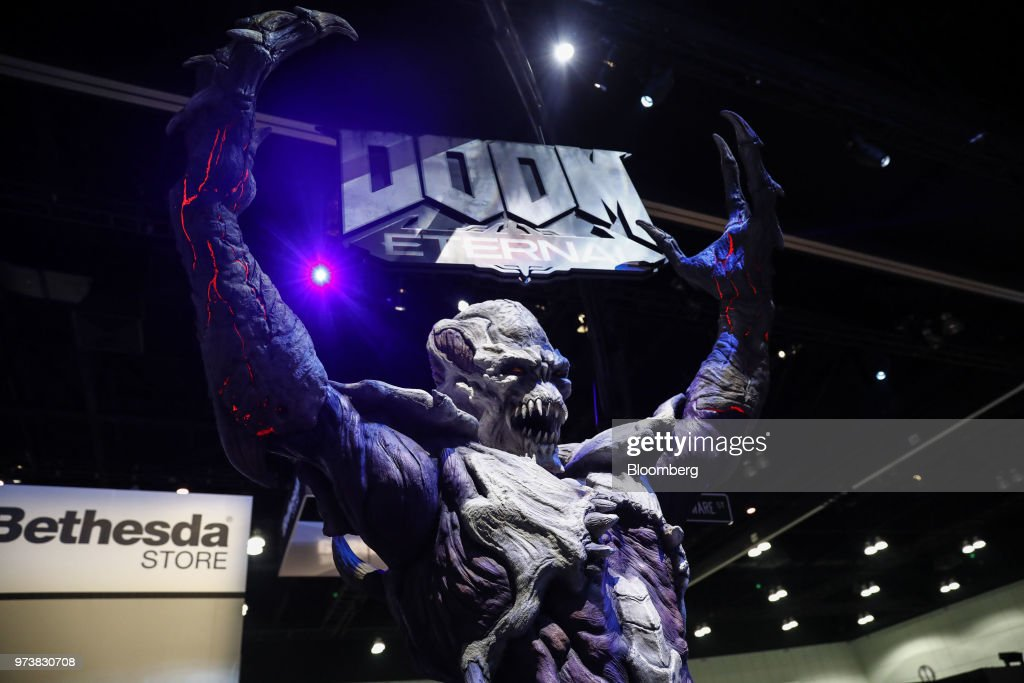 A statue for the Bethesda Softworks LLC Doom Eternal video