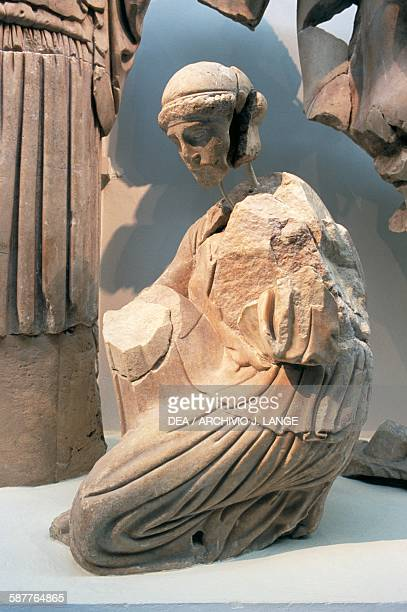 Statue from the East pediment of the Temple of Zeus in Olympia 472456 BC Greece Greek civilisation 5th century BC Olympia Museum