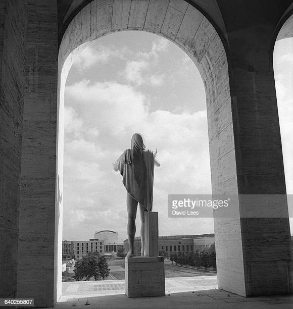 Statue in an arch at EUR in Rome.
