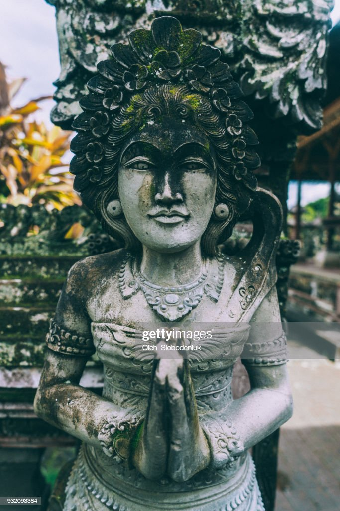 Statue in Balinese temple : Stock Photo