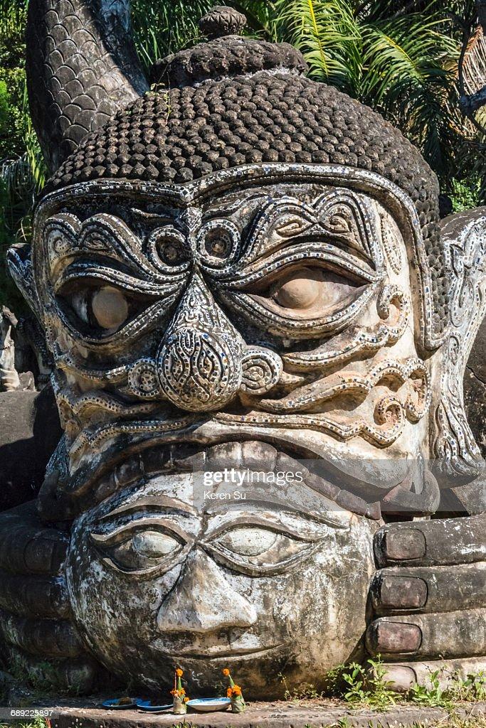 Statue in Buddha Park (Xieng Khuan) : Stock Photo