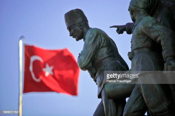 Statue in Istanbul remembering the Young Turk Revolution.