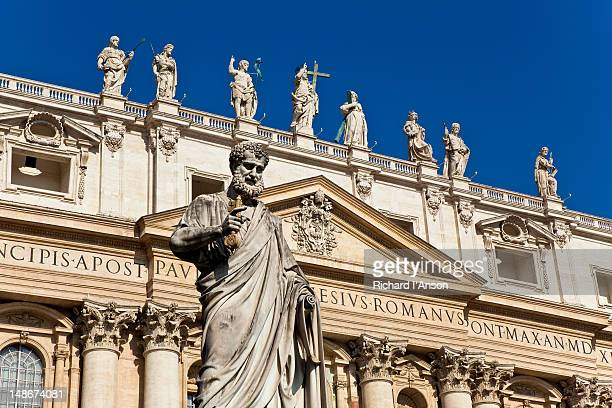 Statue in Piazza San Pietro outside St Peter's Basilica.