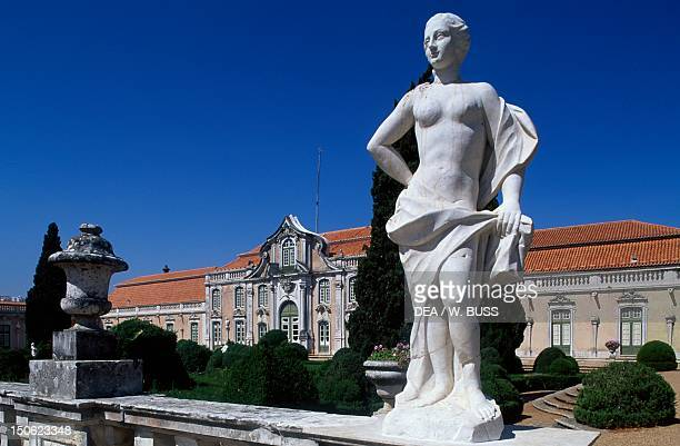 Statue in the garden of Queluz National Palace Portugal 18th century