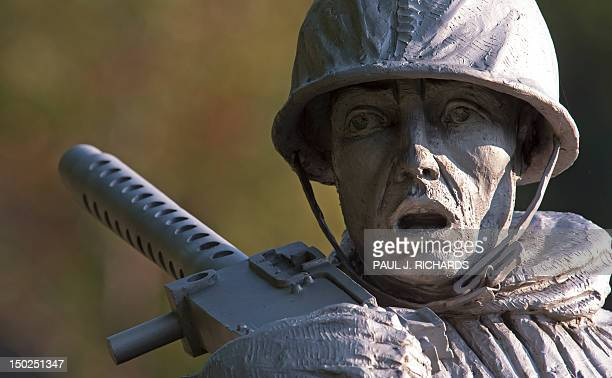 A statue in the Korean War Memorial is seen August 13 in Washington DC AFP PHOTO/Paul J Richards