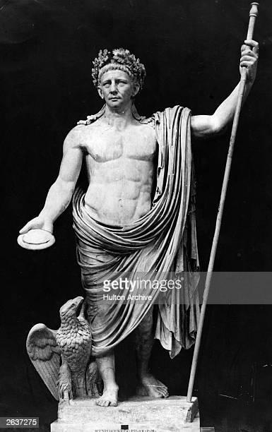 A statue in the Vatican Rome of Claudius I the fourth Roman Emperor circa 41 AD His full name was Tiberius Claudius Drusus Nero Germanicus