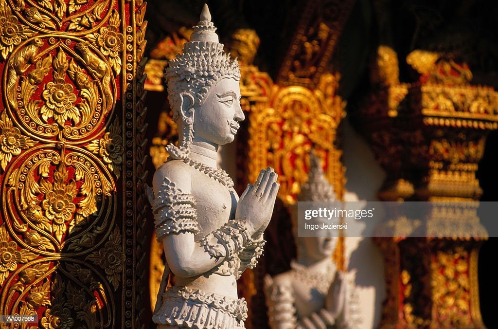 Statue in Wat Bup Param Temple : Stock Photo