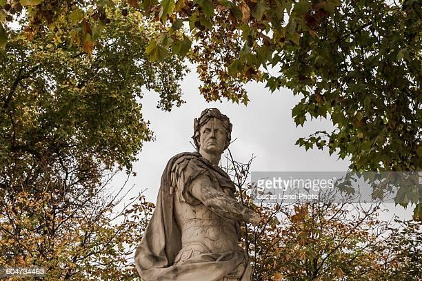 Statue inside Tuileries Garden in Paris