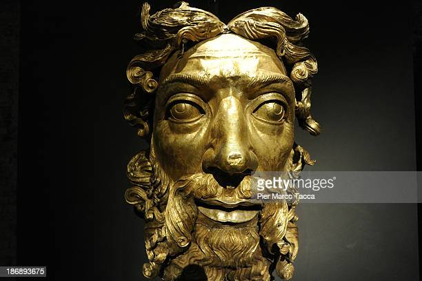 A statue is displayed during the opening exhibition of new Grande Museo del Duomo on November 4 2013 in Milan ItalyThe opening of the new Grande...