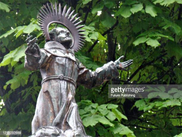 Statue is pictured on a street in Lviv, western Ukraine. - PHOTOGRAPH BY Ukrinform / Barcroft Studios / Future Publishing