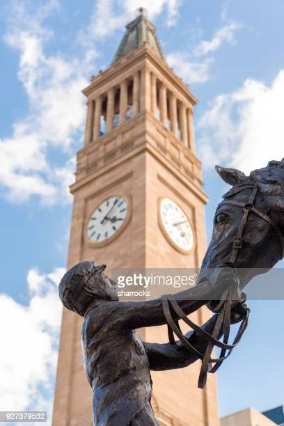 Statue, King George Square and Brisbane City Hall