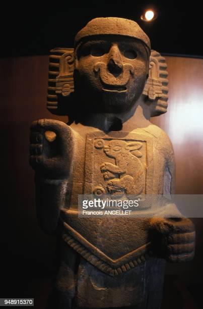 Statue Maya au musée national d'anthropologie de Mexico en 1998 Mexique