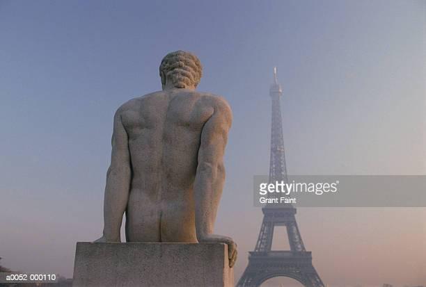 Statue near Eiffel Tower