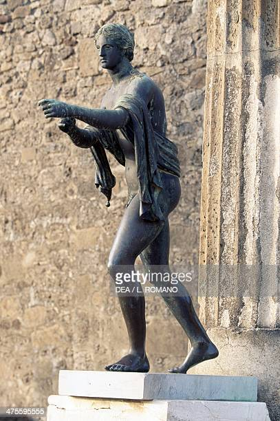 Statue of a god Pompeii Campania Italy Roman civilisation 2nd1st century BC