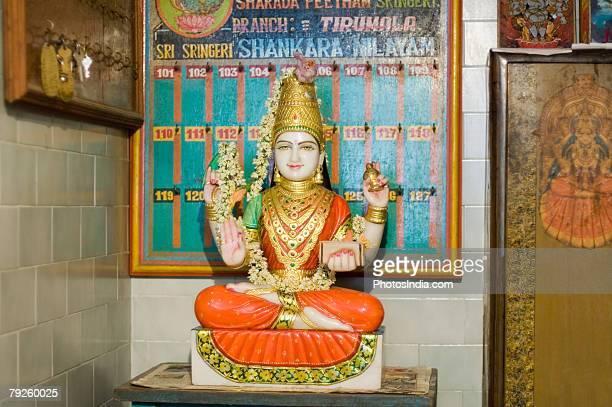 """Statue of a Goddess Laxmi, Tirupati, Tirumala Venkateswara Temple, Tirumala, Andhra Pradesh, India"""