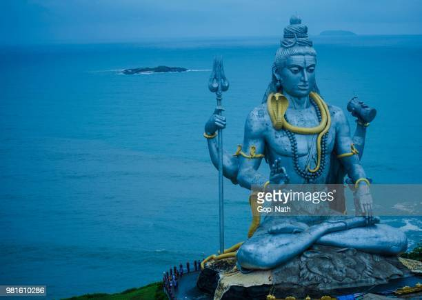 a statue of a hindu deity in karnataka, india. - karnataka stock pictures, royalty-free photos & images