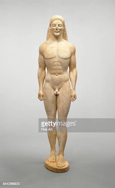 Statue of a Kouros c 530 BC marble 2061 x 546 x 51 cm Late Archaic/Early Classical Greek The J Paul Getty Museum Malibu California