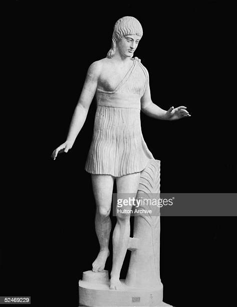 A statue of a running girl of the Olympic games circa 500 BC