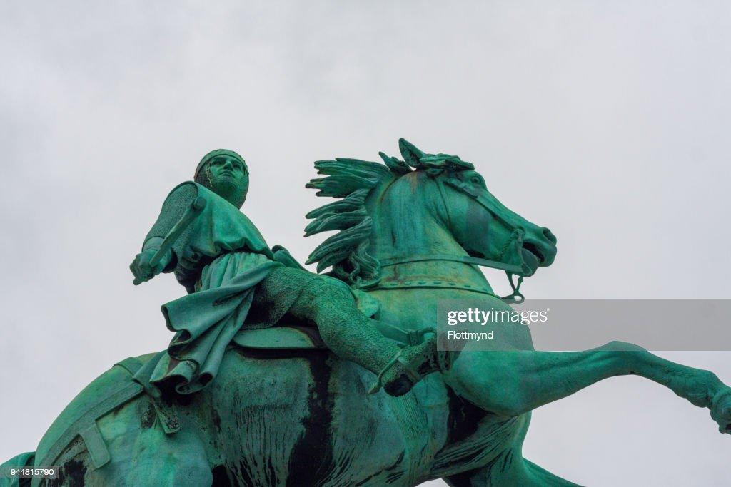 Statue of Absalon, founder of Copenhagen, Denmark : Stock Photo