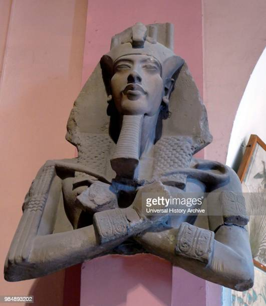 Statue of Akhenaten I8th Dynasty One of a series of colossal statues that once lined a colonnade in the Precinct of the Aten at Karnak this statue...