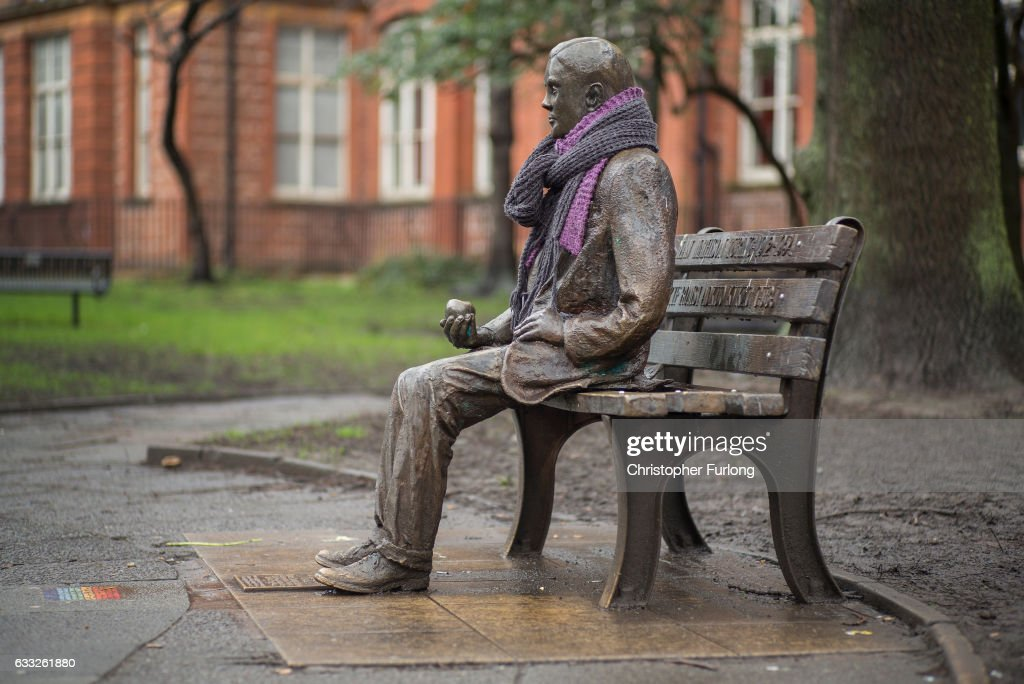 A statue of Alan Turing sits in Sackville Park in Manchester's Gay Village on February 1, 2017 in Manchester, England. Tens of thousands of people criminally convicted of homosexuality have been pardoned under the law known informally as the 'Alan Turing Law', the Sexual Offences Pardons Bill 2016-17. Alan Turing was a pioneering English computer scientist and mathematician whose ground-breaking work is thought to have brought WWII to an end four years early. Turing was sentenced to chemical castration after he admitted to 'acts of gross indecency' in 1952. He was found dead from cyanide poisoning in 1954 with a half-eaten apple by his side. An inquiry concluded that it was suicide.