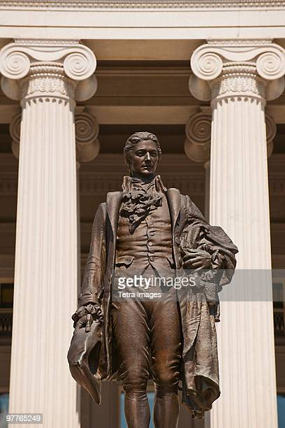 statue of alexander hamilton - alexander hamilton stock photos and pictures