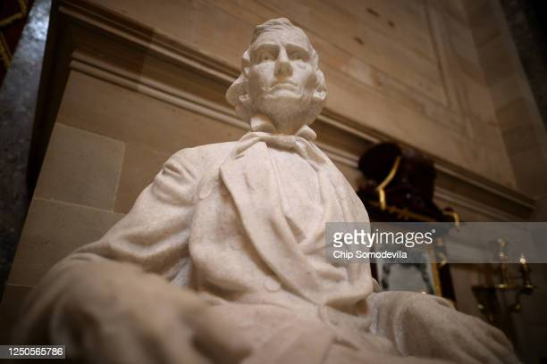 Statue of Alexander Hamilton Stephens, vice president of the Confederate States from 1861 to 1865, is on display in Statuary Hall inside the U.S....