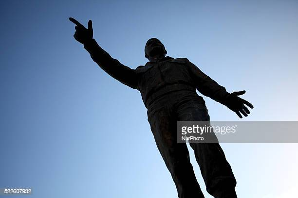 Statue of Alexandros Panagoulis a Greek politician and poet who became famous for his attempt to assassinate dictator Georgios Papadopoulos on August...