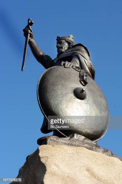 Statue of Alfred the Great, by Hamo Thornycroft, in Winchester, England.