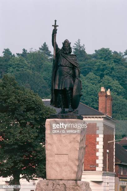 Statue of Alfred the Great Winchester England United Kingdom