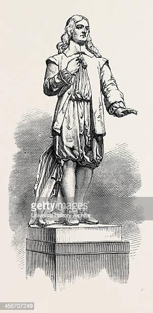Statue Of Andrew Marvell In The New Townhall KingstonOnHull Uk 1867