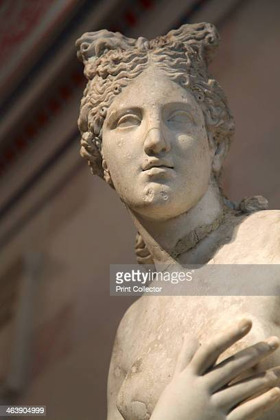 Statue of Aphrodite Goddess of Beauty and Love Roman after a Greek original known as the Capitoline Venus type of 3rd2nd century BC The Roman...