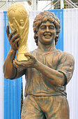 Statue of argentine footballer diego maradona is unveiled at the picture id891374390?s=170x170