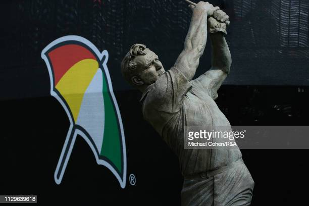 A statue of Arnold Palmer is seen during The Open Qualifying Series part of the Arnold Palmer Invitational at Bay Hill Club and Lodge on March 10...