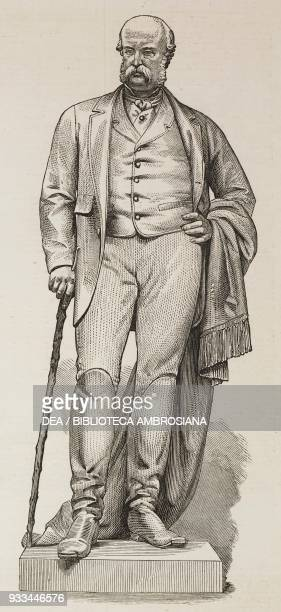 Statue of Arthur Hill 4th Marquess of Downshire by S F Lynn at Hillsborough County Down Northern Ireland United Kingdom illustration from the...