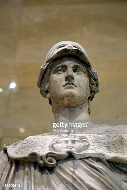 Statue of Athena Goddess of Wisdom and Just War and patroness of crafts 2nd century After the Greek original of the 5th century BC Minerva was the...