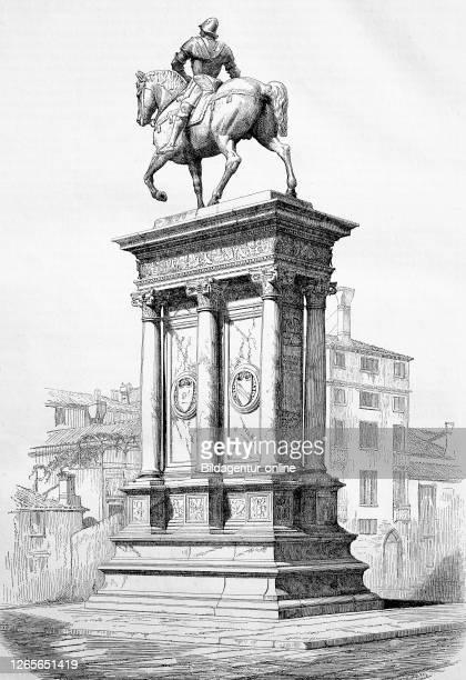 Statue of Bartolomeo Colleoni, Campo Santi Giovanni e Paolo a Venezia, Italy / Reiterstandbild von Bartolomeo Colleoni in Venedig, Italien,...
