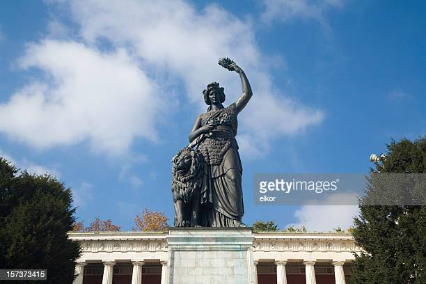 statue of bavaria - bavaria stock pictures, royalty-free photos & images