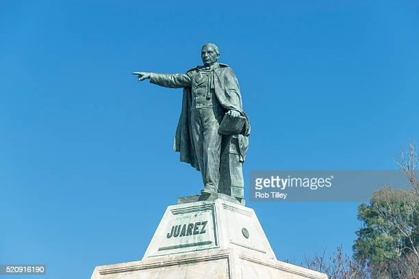 statue of benito juarez - ciudad juarez stock photos and pictures