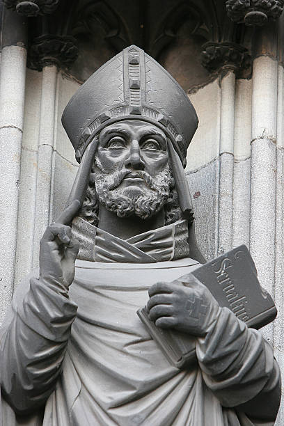Statue of Bishop at Cologne Cathedral