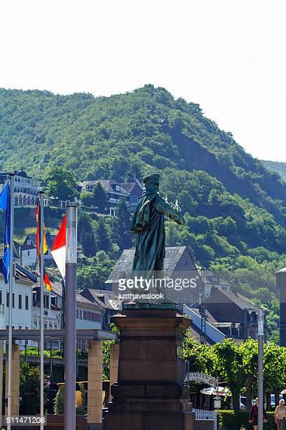 Statue of Blücher monument at Rhine in Kaub