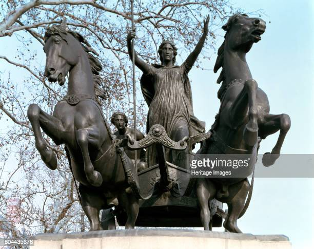 Statue of Boadicea Thames Embankment London After the death of Boudicca's husband Prasutagus leader of the Iceni the Romans confiscated his lands...