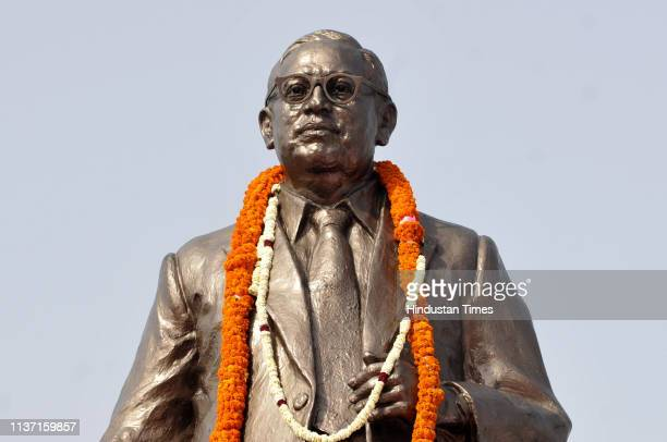 A statue of BR Ambedkar seen on his 128th birth anniversary at Rashtriya Dalit Prerna Sthal sector 95 on April 14 2019 in Noida India Ambedkar...